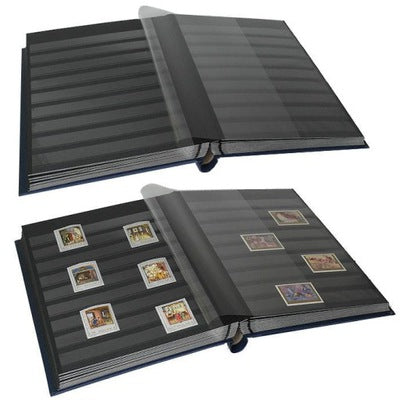 Leuchtturm A4 Premium Stamp Album with Sleeve 32 Sheets Black