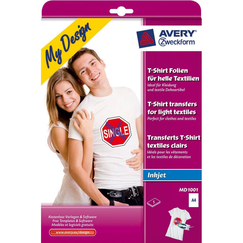 Zweckform A4 T-Shirt Transfer Paper - Pack of 5 Sheets