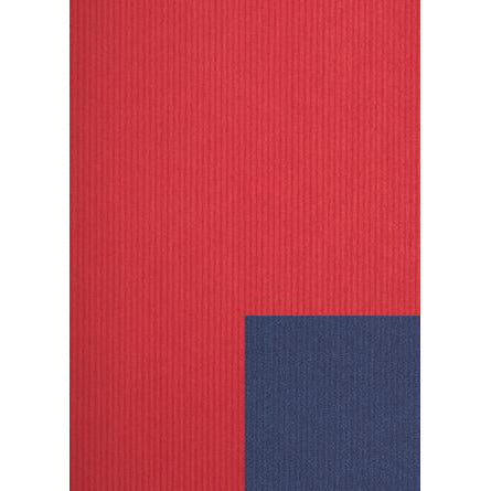 Jung Design Premium Double Sided Gift Wrap Paper 75 x 100 cm - Red/Blue