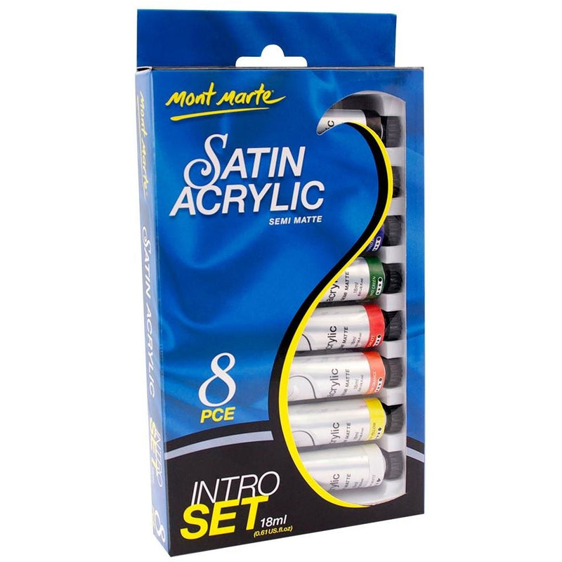 Mont Marte Satin Acrylic Paint  Set / 8 x 18ml