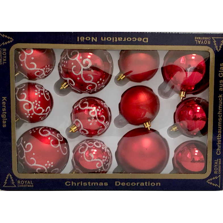 Colored Ornament Set - 12 Piece / 9 Colors