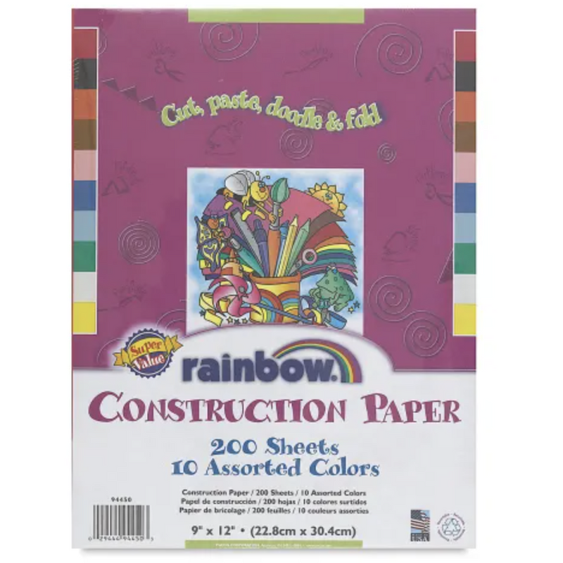 Pacon Rainbow Construction Paper - 200 Sheets