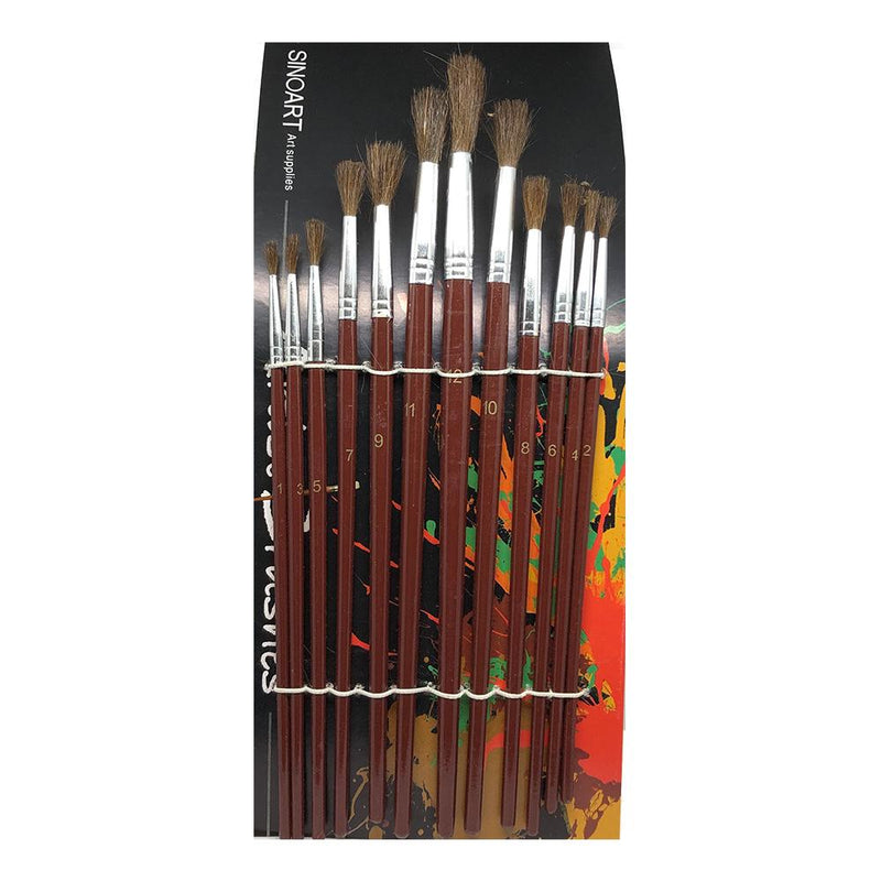 Sinoart Watercolor Brushes / Set of 12