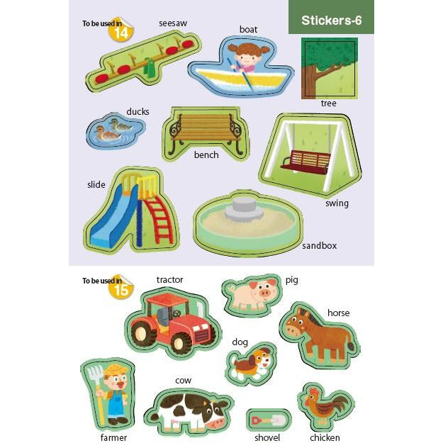 Vocabulary Sticker Books – Around Town (Ages 2+)