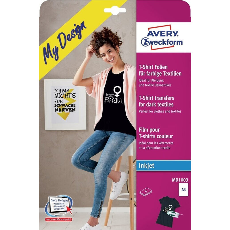 Zweckform A4 T-Shirt Transfer Paper - Pack of 4 Sheets