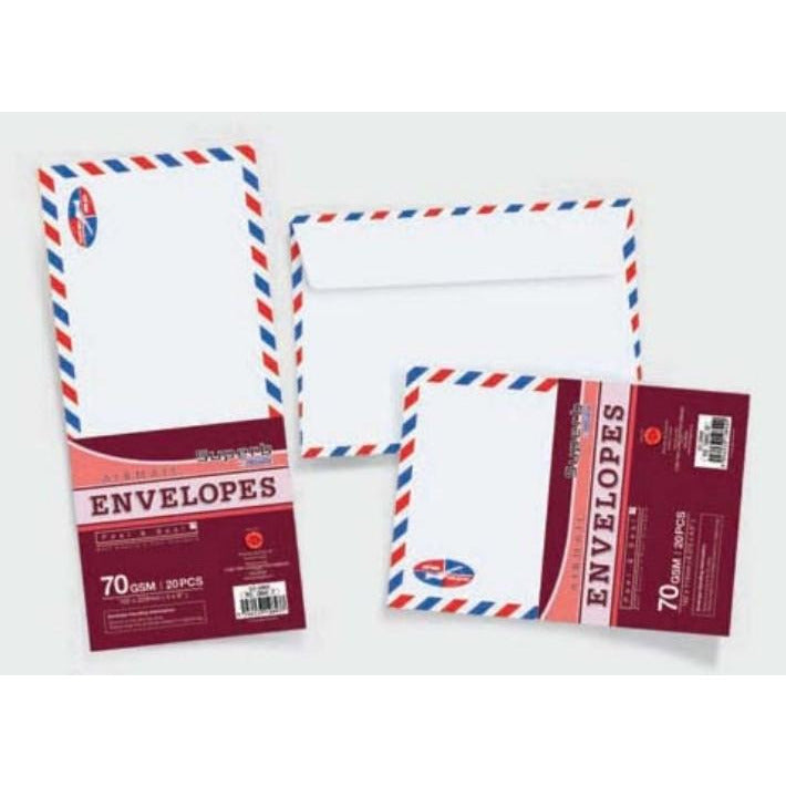 CampAp Air Mail Envelopes 102X229mm 70 GSM - Pack of 20