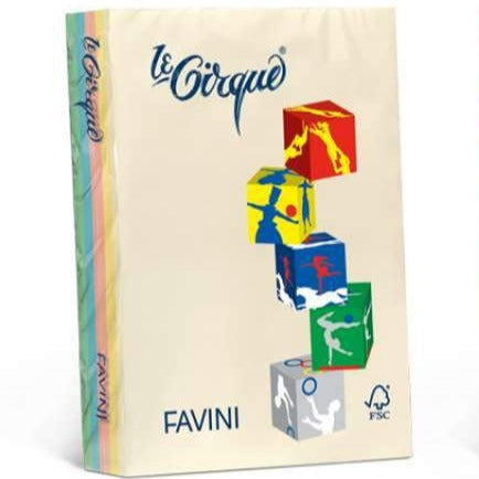 Favini 160gsm Colored A4 Carton / 250 Sheets