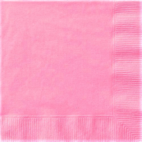 Unique Solid Colors Beverage Napkins 25x25cm - pack of 20