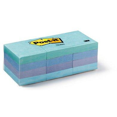 "Post-it® Notes 1.5""x2"" - Pack of 12 Colored (Assorted)"