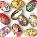 Elite Gift Boxes Floral Tin Easter Eggs 70 mm - Pack of 1