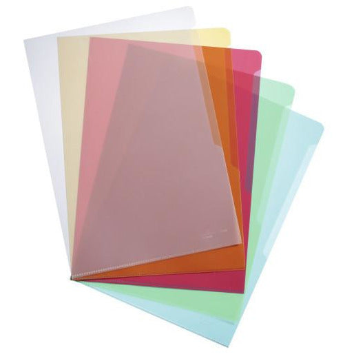 Durable A4 Transparent L-Shape File - Pack of 50