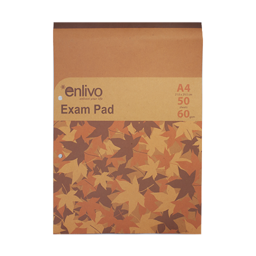 Enlivo Exam Pad A4 - 50 sheets