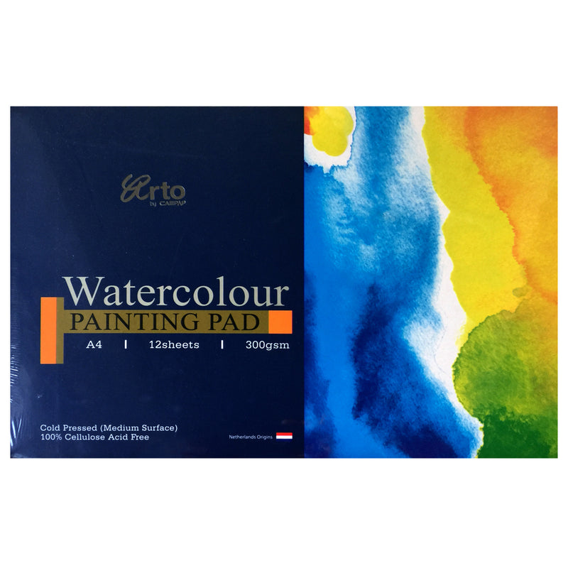 CampAp Arto Watercolor Painting Pad 300 GSM - A4