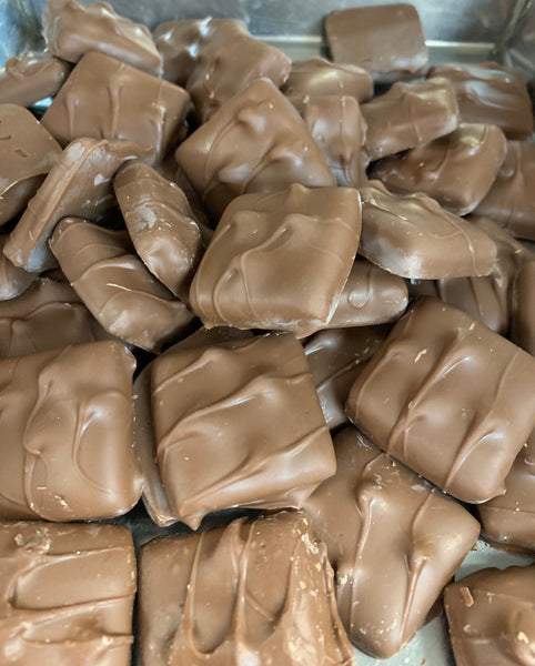 Milk Chocolate Covered English Toffee  (1/2 lb.)