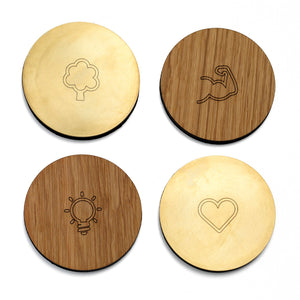THE OAK MEN - Bar Coasters