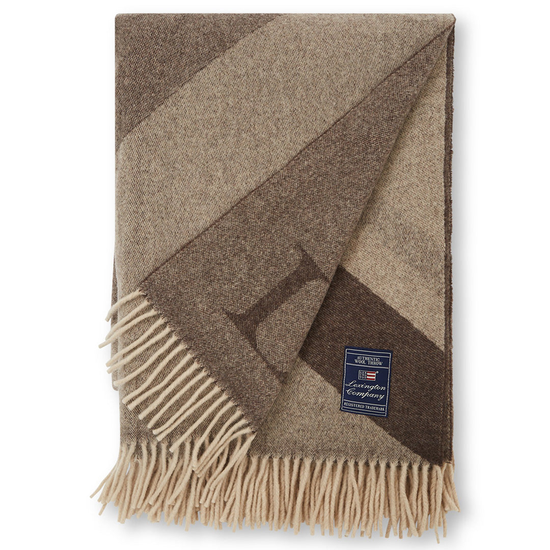 Graphic Recycled Wool Throw