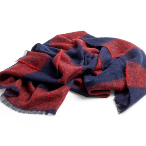 Mohair Blanket - Hay plaid