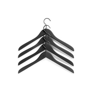 Soft Coat hanger - Wide 4 pcs. Black
