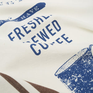 Printed Cotton Twill Coffee Kitchen Towel - Viskestykker