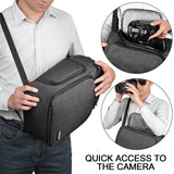 Single Strap Cross Shoulder Waterproof Camera Bag