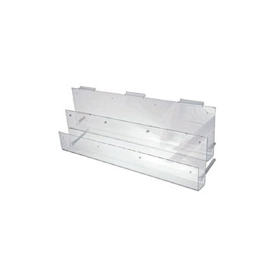 AP1292-Acrylic Magazine Racks Two Tier 900mm Long - Business Base