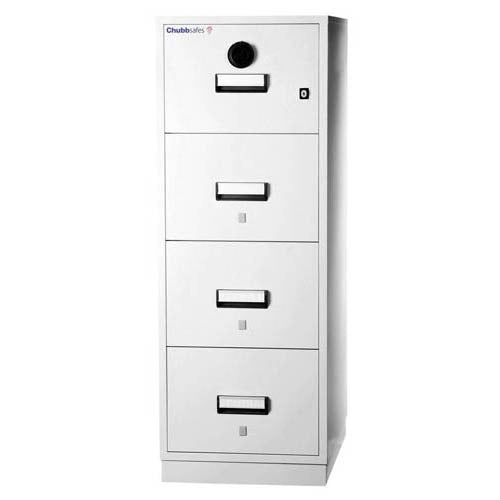 ChubbSafes Fire Proof 4 Drawer Filing Cabinet - Business Base