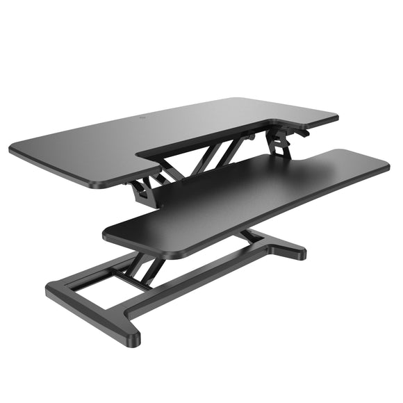Premium Manual Sit Stand Desk Riser - Business Base