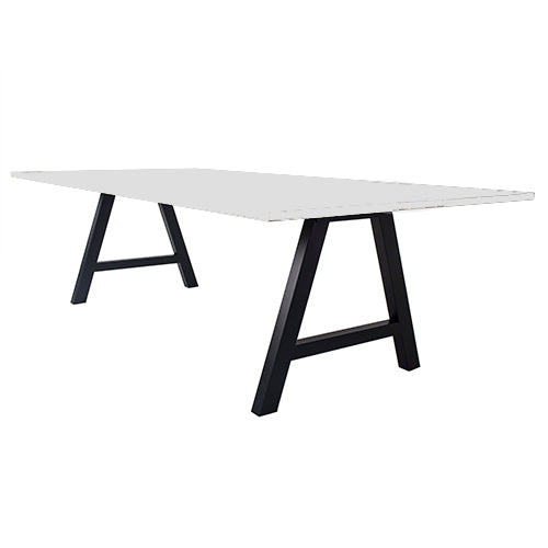 Pitch High Table White Top - Business Base
