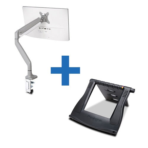 KENSINGTON SMARTFIT ONE TOUCH ADJUST SINGLE MONITOR ARM - Business Base