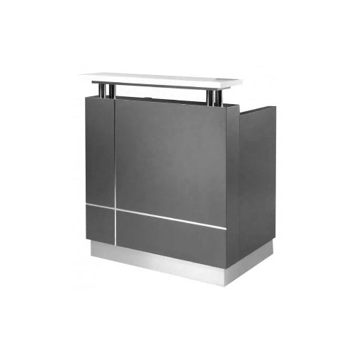 Logic Small Reception Counter Charcoal
