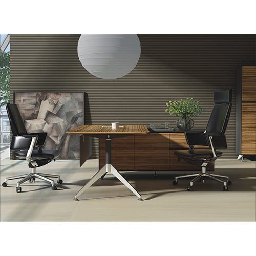 Novaro Rectangular Desk with Return - Business Base