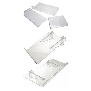AP111-Acrylic Shelves W/30mm LIP 810x150mm - Business Base