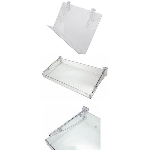 AP136-Acrylic Shelves W/80mm LIP 810x350mm - Business Base