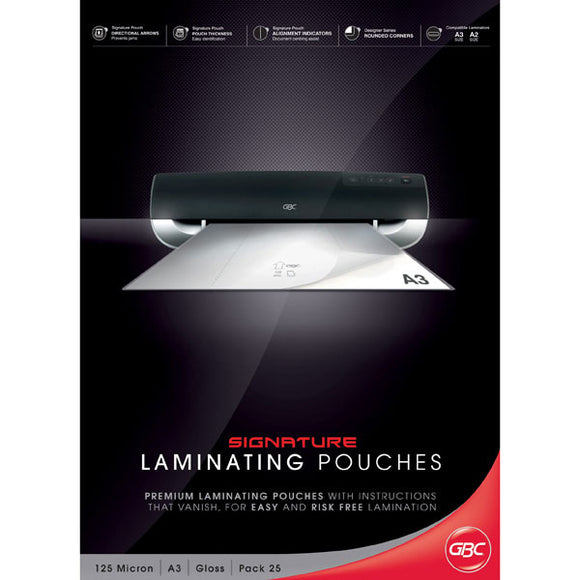 GBC Laminator Pouches A3 125MIC 25PK - Business Base