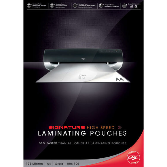 GBC High Speed Laminator Pouches 125 MIC 100PK - Business Base