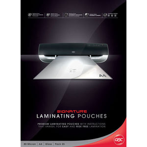 GBC Laminator Pouches A4 125MIC 25PK - Business Base