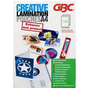 GBC Creative Laminator Pouches A4 80MIC 100PK - Business Base