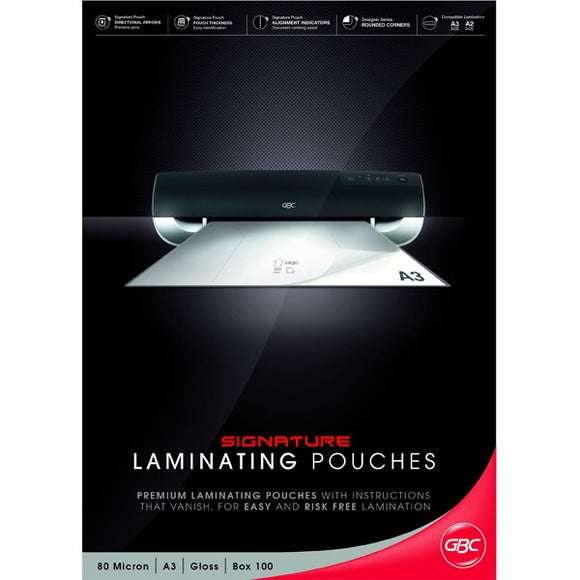 GBC Signature Laminator Pouches A3 80MIC 100PK - Business Base