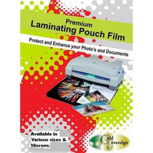 Gold Sovereign Laminator Pouches ID Cards 125MIC 100PK - Business Base