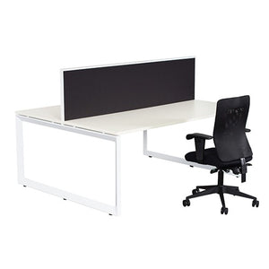 Helix Workstation Single Row with Screen One Person - Business Base