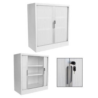 Impact Low Tambour Door Cupboard - Business Base