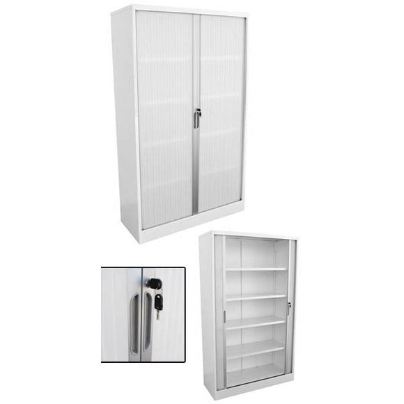 Impact Tall Tambour Door Cupboard - Business Base