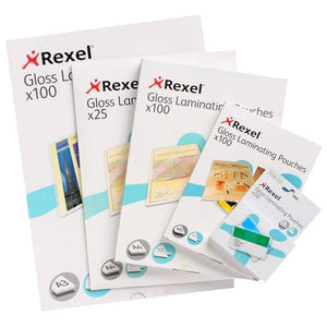 Rexel Laminating Pouch Gloss 2X75M