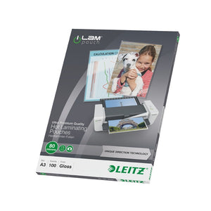 Leitz Laminator Pouch A3 80MIC 100PCS - Business Base