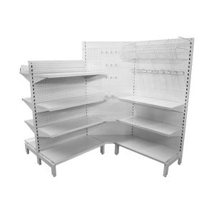 Supermarket Shelving Corner Kit - Business Base