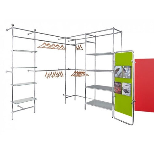 Wall Clothes Rack Shelf System - Business Base