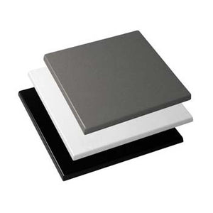 Werzalit Square Table Top - Plain Finish - Business Base