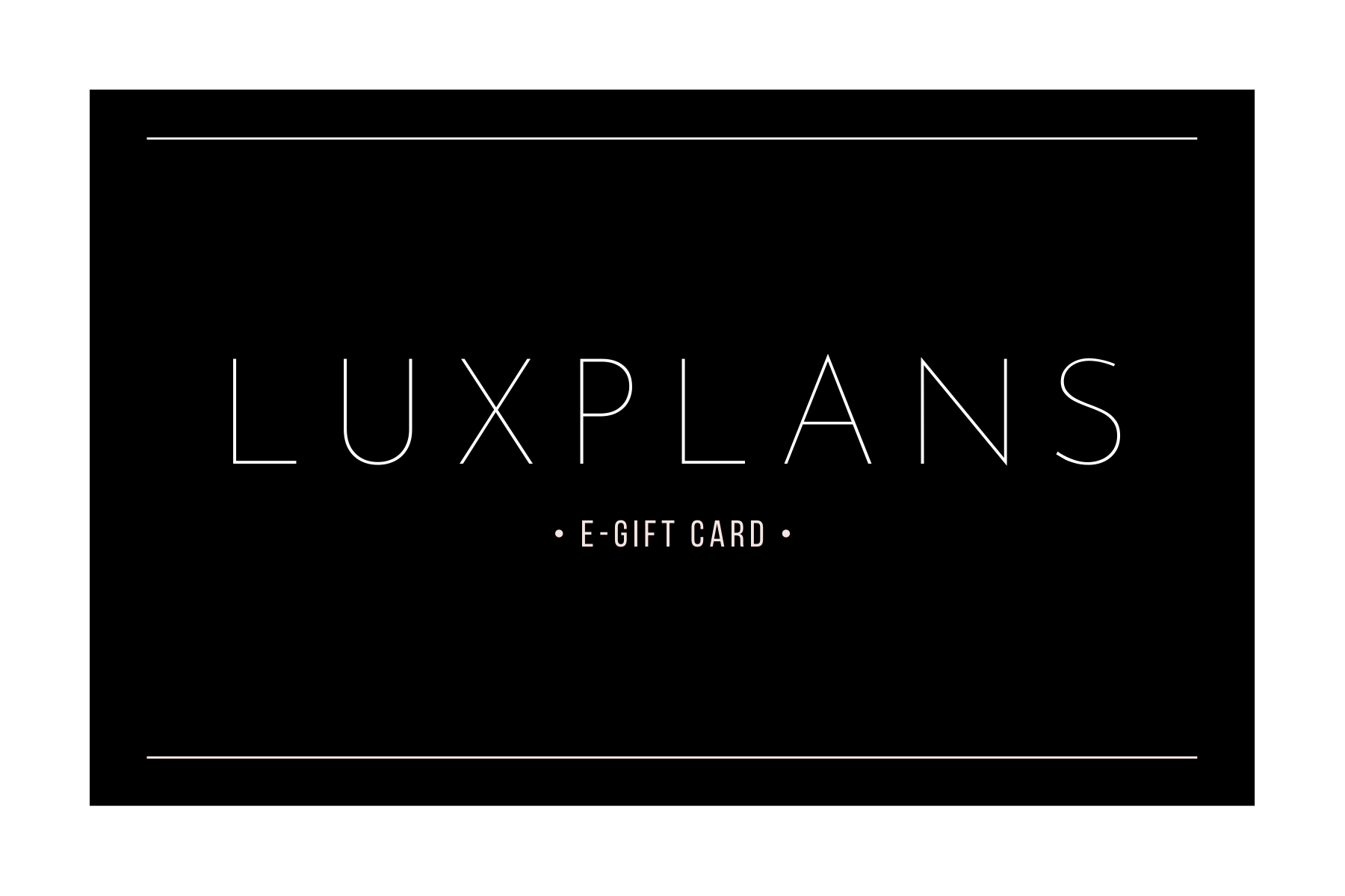 LUXPLANS eGift Card