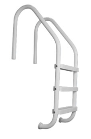 3-Tread Saftron White Inground Pool Ladder