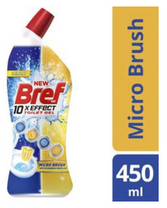 Bref Lemon Toilet Gel Micro Brush 450ml